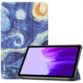 Tri-Fold Book Case Samsung Galaxy Tab A7 Lite Hoesje - Sterrennacht