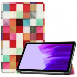 Tri-Fold Book Case Samsung Galaxy Tab A7 Lite Hoesje - Colour Squares