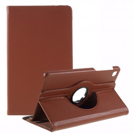 360 Rotating Case Samsung Galaxy Tab A7 Lite Hoesje - Bruin