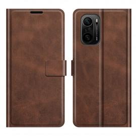 Book Case Deluxe Xiaomi Poco F3 Hoesje - Bruin