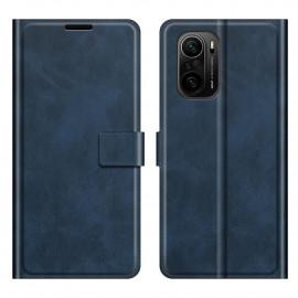 Book Case Deluxe Xiaomi Poco F3 Hoesje - Blauw