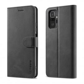 Luxe Book Case Xiaomi Redmi Note 10 Pro Hoesje - Zwart