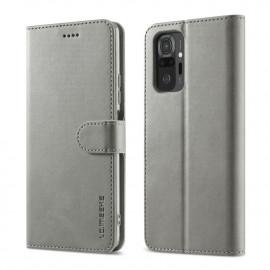 Luxe Book Case Xiaomi Redmi Note 10 Pro Hoesje - Grijs