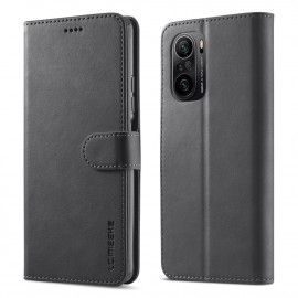 Luxe Book Case Xiaomi Poco F3 Hoesje - Zwart