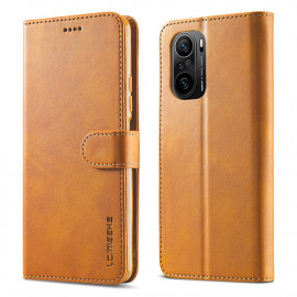 Luxe Book Case Xiaomi Poco F3 Hoesje - Bruin