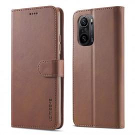 Luxe Book Case Xiaomi Poco F3 Hoesje - Donkerbruin