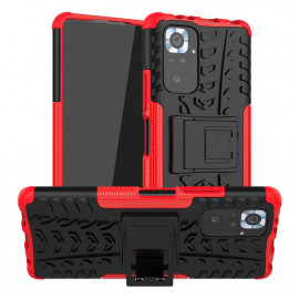 Rugged Kickstand Xiaomi Redmi Note 10 Pro Hoesje - Rood