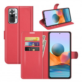 Book Case Xiaomi Redmi Note 10 Pro Hoesje - Rood