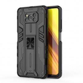 Armor Kickstand Xiaomi Poco X3 Pro Hoesje - Zwart