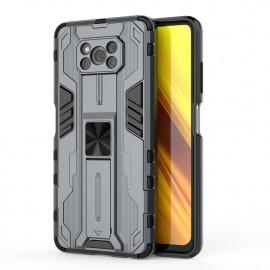 Armor Kickstand Xiaomi Poco X3 Pro Hoesje - Grijs