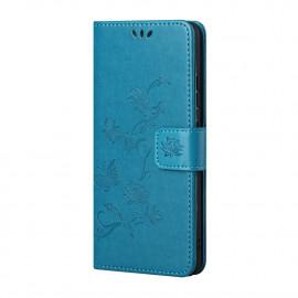 Bloemen Book Case Nokia X10 / X20 Hoesje - Blauw