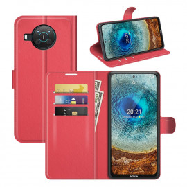 Book Case Nokia X10 / X20 Hoesje - Rood