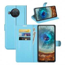 Book Case Nokia X10 / X20 Hoesje - Lichtblauw
