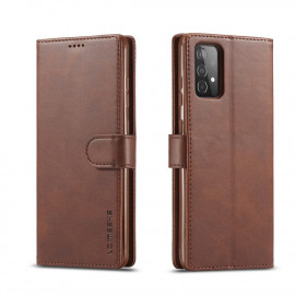 Luxe Book Case Samsung Galaxy A52 / A52s Hoesje - Donkerbruin