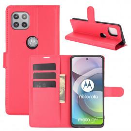 Book Case Motorola Moto G 5G Hoesje - Rood