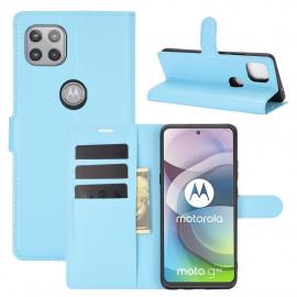 Book Case Motorola Moto G 5G Hoesje - Lichtblauw