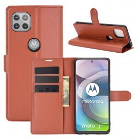 Book Case Motorola Moto G 5G Hoesje - Bruin
