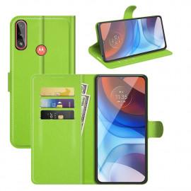 Book Case Motorola Moto E7i Power Hoesje - Groen