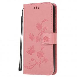 Bloemen Book Case Motorola Moto G10 / G20 / G30 Hoesje - Pink