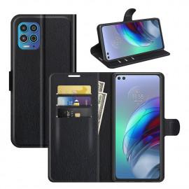 Book Case Motorola Moto G100 Hoesje - Zwart
