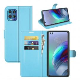 Book Case Motorola Moto G100 Hoesje - Lichtblauw
