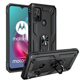 Ring Kickstand Motorola Moto G10 / G20 / G30 Hoesje - Zwart