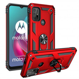 Ring Kickstand Motorola Moto G10 / G20 / G30 Hoesje - Rood
