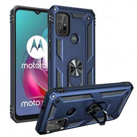 Ring Kickstand Motorola Moto G10 / G20 / G30 Hoesje - Blauw