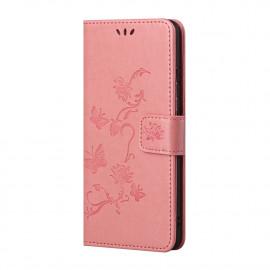 Bloemen Book Case Xiaomi Redmi Note 10 5G Hoesje - Pink