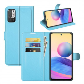 Book Case Xiaomi Redmi Note 10 5G Hoesje - Lichtblauw