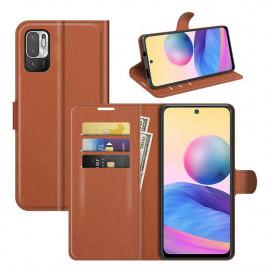Book Case Xiaomi Redmi Note 10 5G Hoesje - Bruin