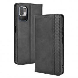Vintage Book Case Xiaomi Redmi Note 10 5G Hoesje - Zwart