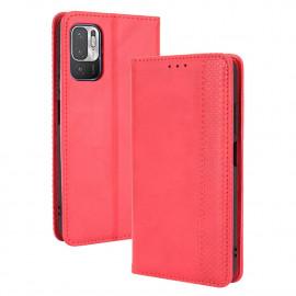 Vintage Book Case Xiaomi Redmi Note 10 5G Hoesje - Rood