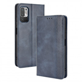 Vintage Book Case Xiaomi Redmi Note 10 5G Hoesje - Blauw