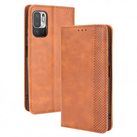 Vintage Book Case Xiaomi Redmi Note 10 5G Hoesje - Bruin