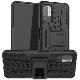 Rugged Kickstand Xiaomi Redmi Note 10 5G Hoesje - Zwart
