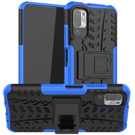 Rugged Kickstand Xiaomi Redmi Note 10 5G Hoesje - Blauw