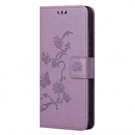 Bloemen Book Case Nokia G10 / G20 Hoesje - Paars