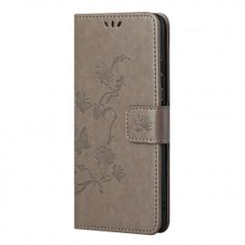 Bloemen Book Case Nokia G10 / G20 Hoesje - Grijs