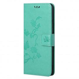Bloemen Book Case Nokia G10 / G20 Hoesje - Cyan