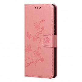 Bloemen Book Case Nokia G10 / G20 Hoesje - Pink