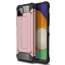 Armor Hybrid Samsung Galaxy A22 5G Hoesje - Rose Gold