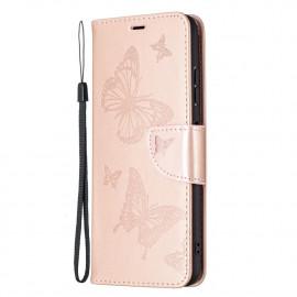 Bloemen Book Case Samsung Galaxy A22 5G Hoesje - Goud
