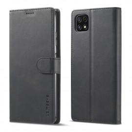 Luxe Book Case Samsung Galaxy A22 5G Hoesje - Zwart