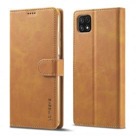Luxe Book Case Samsung Galaxy A22 5G Hoesje - Bruin