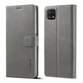 Luxe Book Case Samsung Galaxy A22 5G Hoesje - Grijs