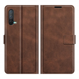 Book Case Deluxe OnePlus Nord CE 5G Hoesje - Donkerbruin