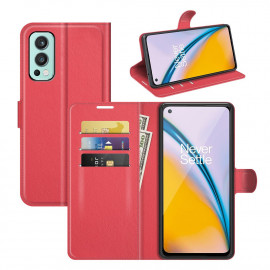 Book Case OnePlus Nord 2 Hoesje - Rood