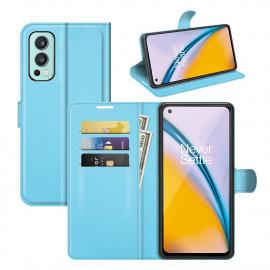 Book Case OnePlus Nord 2 Hoesje - Lichtblauw