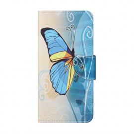 Book Case OnePlus Nord 2 Hoesje - Blauwe Vlinder
